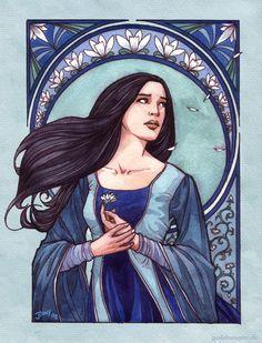 The Choice of Lúthien, watercolour, 2008