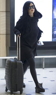 Kat von D arriving in Sydney, Australia