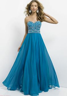 Sweetheart Floor Length Chiffon Sleeveless A line Natural Waist Dress For Prom - 1300303519B - US$269.99 - BellasDress