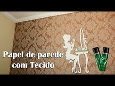 Como colocar tecido na parede sem usar cola. - YouTube