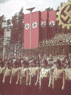 Comício do Partido Nazista.