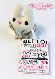 Join Urban Threads in a collaborative group project to spread a little bit of handmade joy to total strangers. Grab you free and totally adorable bunny plush design and take part!