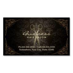 Vintage Framed Damask Hair Salon Appointment Business Card
