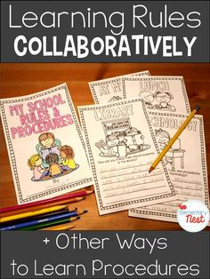 Back to school rules and expectations- hands on activities, whole group learning, partner games, and shared writing books to learn the rules and procedures of their new school year- back to school activity for rules and procedures