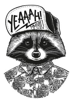 Raccoon Photo by Yeaaah! Studio // Inspiration for the EMRLD14 Team // www.emrld14.com