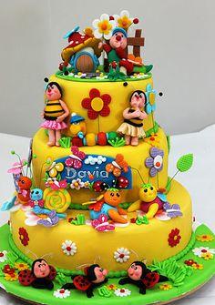 viorica's cakes: Tort botez, Rapsodii de primavara
