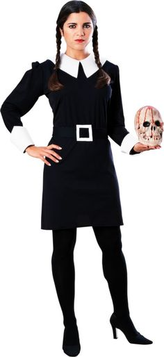 Adult Wednesday Costume ($39.99) Addams Family - Party City ONLINE | 3.2 stars