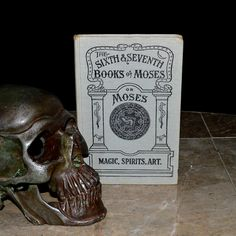 """This rare copy of """"The Sixth and Seventh Books of Moses"""" is circa early 1900's. This volume contains over 300 black and white illustrations, seals, tables and diagrams. These seals and tables are used for invoking entities into physical presence, protecting oneself, attaining powers, communicating with the dead, conjuring demonic forces, cursing one's enemy, etc.. This is purportedly the Magick that Moses used to create miracles portrayed in the Judeo-Christian Bible."""