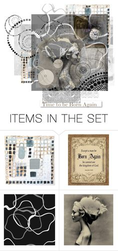 """""""Time to be Born Again"""" by thresholdpaperart ❤ liked on Polyvore featuring art, Jesus and artset"""