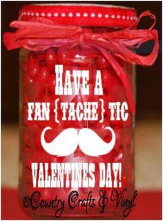 Valentines Mustache Decals
