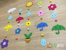 귀여운 봄 모빌 :: 솜씨자랑 :: 유아핀 Foam Sheet Crafts, Preschool Centers, Foam Sheets, Classroom Decor, My Children, Paper Cutting, Diy And Crafts, Education, Party