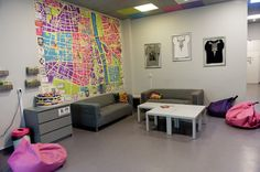 Common Room at Patchwork Hostel. Warsaw, Poland.
