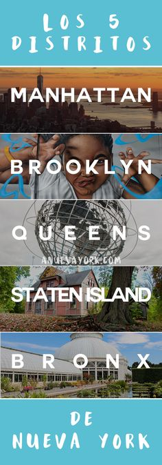 The 5 districts of New York – What to do in each borough Queens Nyc, Queens New York, Manhattan New York, New York Photography, Travel Photography, New York Travel, Travel Usa, New York Projects, Staten Island New York
