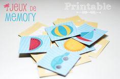 Petits canaillous | Un jeu de memory pour l'été a imprimer gratuitement |  Memory game - free printable http://www.petits-canaillous.fr