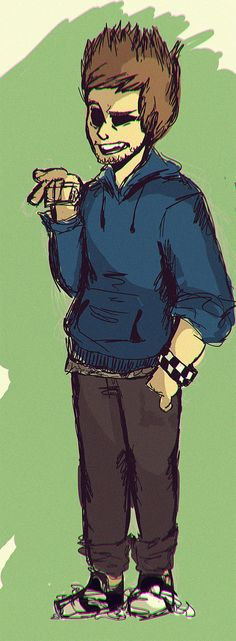 Tom Ridgewell drawn as Tom from Eddsworld (Tom has confirmed that they are not mean to to bee the same person )