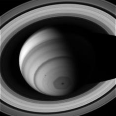 A hexagonal storm on Saturn rages in this image taken July 2, 2014. Credit: NASA/JPL/Space Science Institute