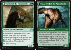 Lone Wolf of MTG SHADOWS OVER INNISTRAD VO 4X Hermit of the Natterknolls