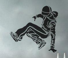 Break Dancer 8 uBer Decals Wall Decal Vinyl Decor by UberDecals, $18.98