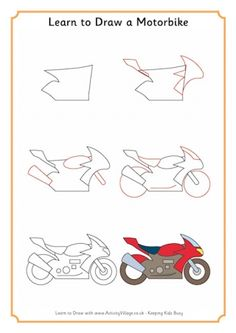 Learn to Draw a Motorbike