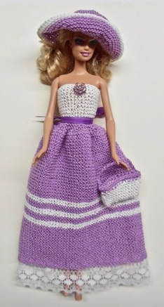 Cotton Dress with Hat and Purse - $8,00 ~ she has oodles and oodles of outfits - summer, winter, etc. - all beautiful!