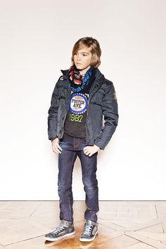 Vêtements garçon ikks : doudoune enfant et jean slim