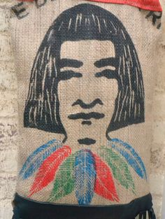 sCoffee Bean Upcycled Tote Bag  Large  El Indio by Liquidshiva, $52.00