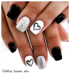 Stunning Summer Nail Art Designs For Short Nails Nail Art ConnectThe Stunning Summer Nail Art Designs For Short Nails Nail Art Connect Extraordinary Black White Nail Designs Ideas Just For You Square Nail Designs, Short Nail Designs, Nail Art Designs, Nails Design, Nails Yellow, Pink Nails, Nails Turquoise, Black Nails, Nail Ideas