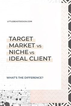 Are you a creative entrepreneur looking for branding and marketing tips? Click through to find out the difference between target market vs niche vs ideal client! #branding #businesstips #marketingtips Marketing Plan, Business Marketing, Social Media Marketing, Online Marketing, Content Marketing, Marketing Strategies, Marketing Communications, Event Marketing, Internet Marketing