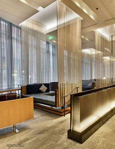 restaurant sheer curtains draped - Google Search