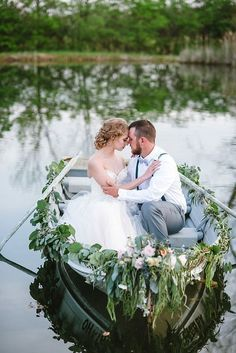 Backyard Canoe Wedding Inspiration Featured On Midwest Bride