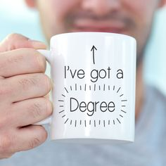 A perfect graduation gift and keepsake, celebrate the achievement of your degree with our degree mug! Perfect to say congratulations to family or friends!