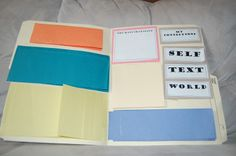 foldables | Inside the template...all the foldables closed. I gave my students the ...