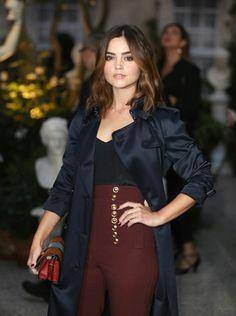 Jenna Louise Coleman Pictures and Photos Jenna Coleman, Celebs, Celebrities, Doctor Who, Burberry, Ruffle Blouse, Classy, Actresses, Hair Styles
