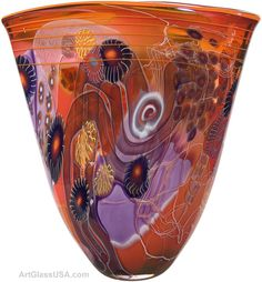Art Glass Vases by Wes Hunting