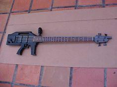 Black Ktone 4 String Bass Electric Guitar Machine Gun AK-47 Shape K Tone Cool Pl