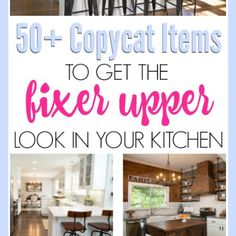 Get that farmhouse kitchen style from your favorite show, Fixer Upper! I've gathered all the best sources of farmhouse decor for you!