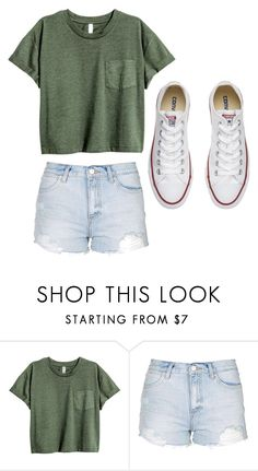 """Casual day out"" by ayeitzemily ❤ liked on Polyvore featuring Topshop and Converse"