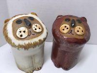 "Vintgage Takahashi LION Stylized Salt and Pepper Shakers Large 4"" Japan"