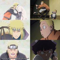 Minato and Naruto || Naruto, Boruto and Himawari || Naruto Shippuden/Boruto: Naruto Next Generations || Anime Quote