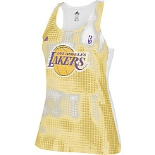 adidas Los Angeles Lakers Womens Sequin Tank Top