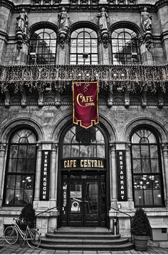Cafe Central. One of the most famous coffee houses in Vienna opened in 1876.