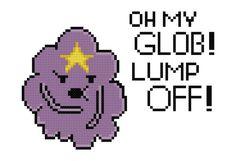 Lumpy Space Princess Quote  Cross Stitch Pattern by pixel8stitches, $3.50