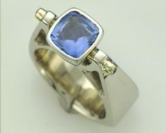 Sapphire Cradle Ring Sapphire, Gemstone Rings, Indian, Jewellery, Gemstones, Earrings, Design, Ear Rings, Jewels