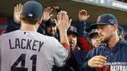 ALCS Game 3: High fives for John Lackey.