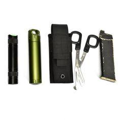 OneTigris MOLLE Single Pistol Mag Pouch 1000D Nylon Glock Magazine Waist Belt Multi-tool Pouch Flashlight Holster