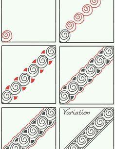 Doodles Zentangles, Tangle Doodle, Zentangle Drawings, Zentangle Patterns, Doodle Drawings, Doodle Art, How To Zentangle, Zen Doodle Patterns, Flower Drawings