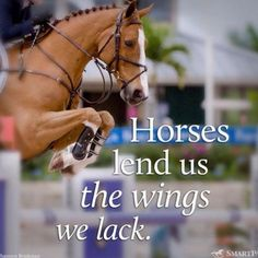 """""""Horses lend us the wings we lack."""" We owe it all to them!"""
