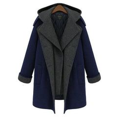 Women's Hot Wool Hooded Long Quilted Winter Coat M-5XL