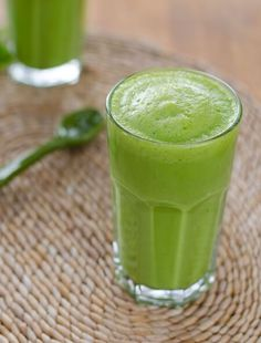 This green smoothie has just 3-ingredients. It