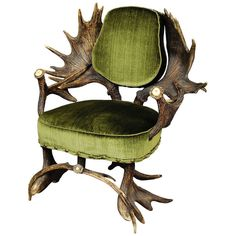 Grandiose Antique Moose Antler Chair, Austria, circa 1880 | From a unique collection of antique and modern armchairs at http://www.1stdibs.com/furniture/seating/armchairs/
